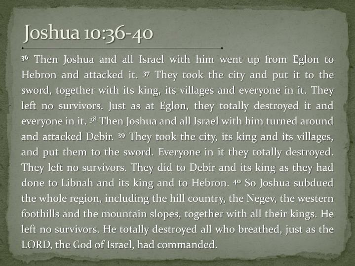 Joshua 10:36-40