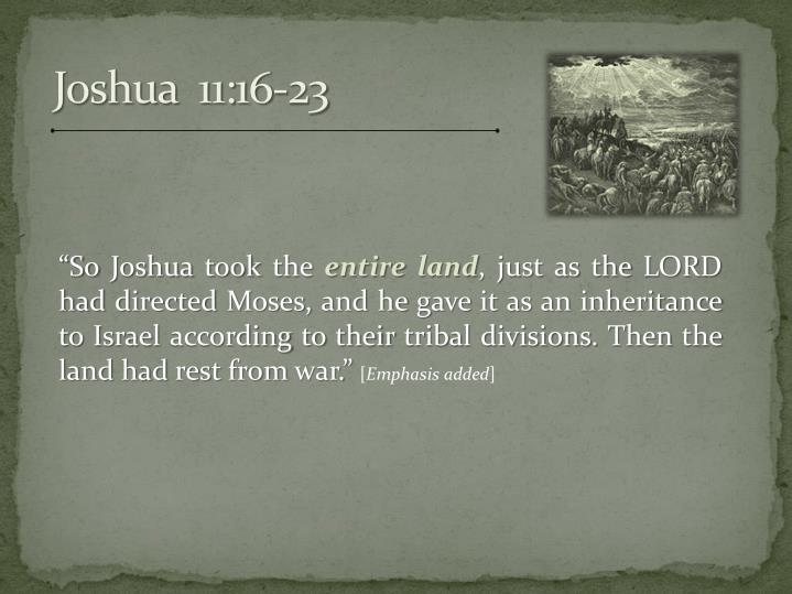 Joshua  11:16-23
