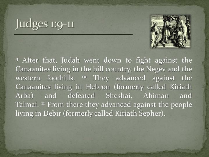 Judges 1:9-11