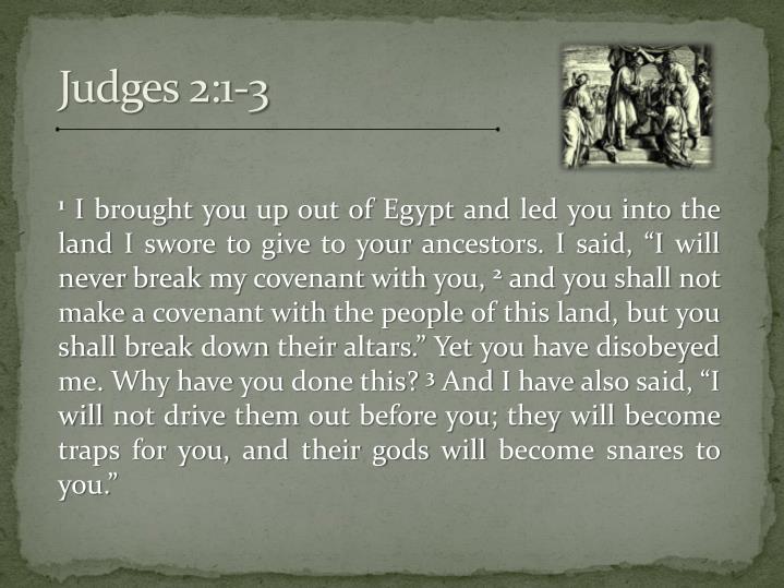 Judges 2:1-3