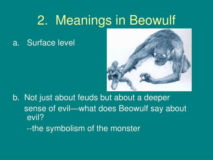 2.  Meanings in Beowulf