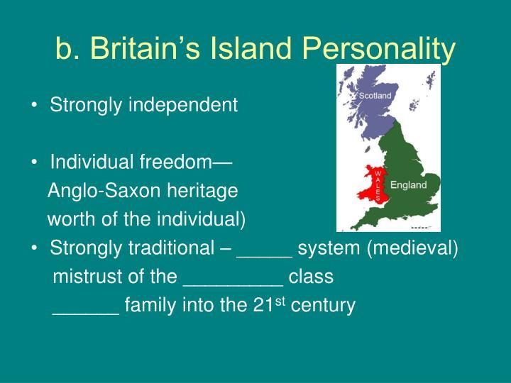 b. Britain's Island Personality