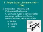 i anglo saxon literature 449 1066