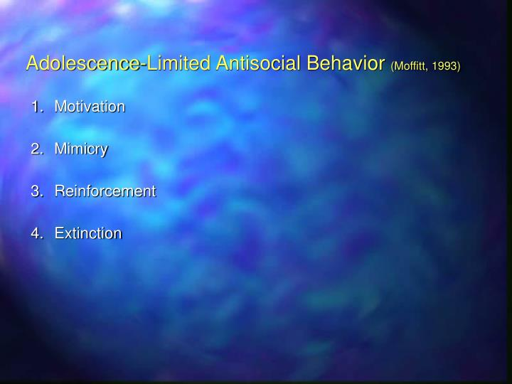 Adolescence-Limited Antisocial Behavior
