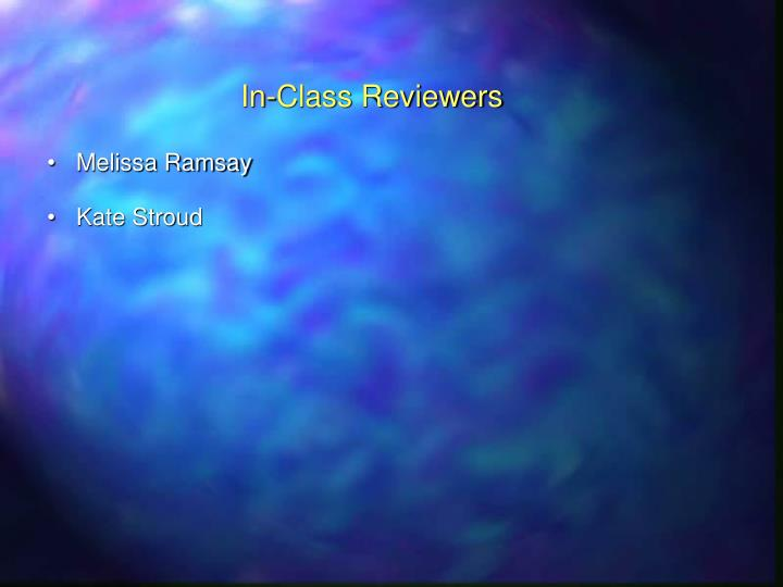 In-Class Reviewers