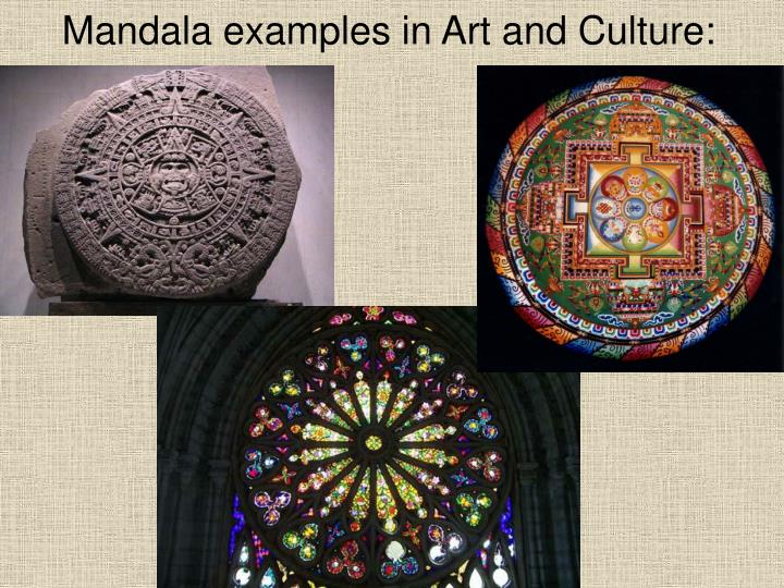 Mandala examples in Art and Culture: