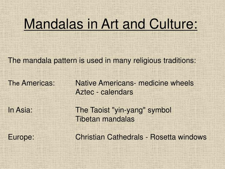 Mandalas in Art and Culture: