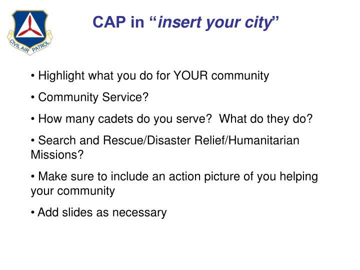 """CAP in """""""