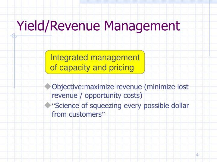 Yield/Revenue Management