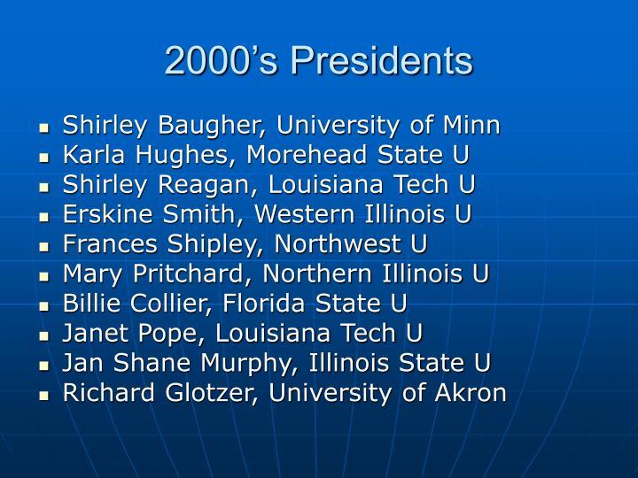 2000's Presidents