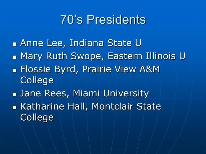 70's Presidents