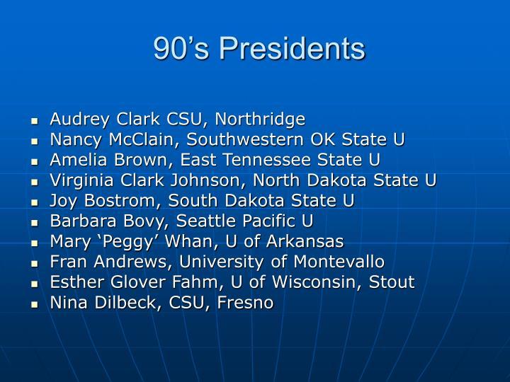 90's Presidents