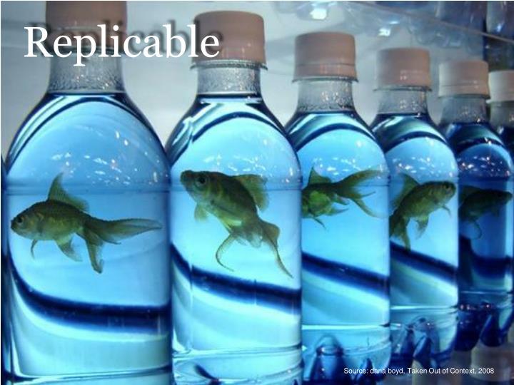 Replicable