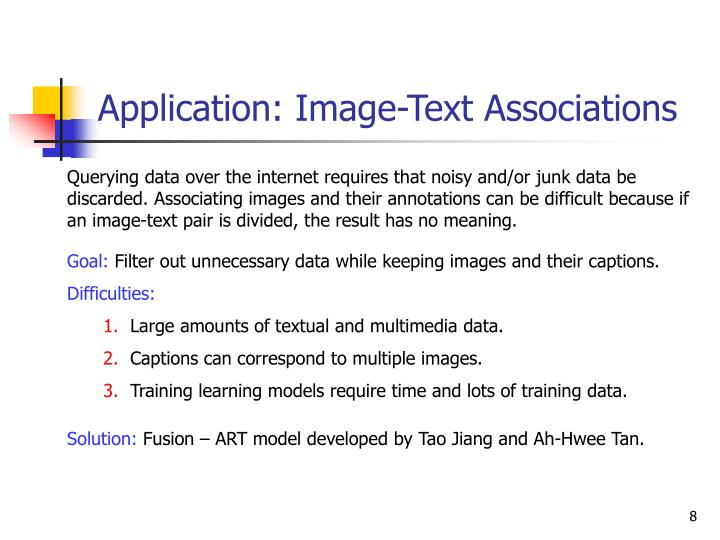 Application: Image-Text Associations
