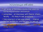 knowledge will also