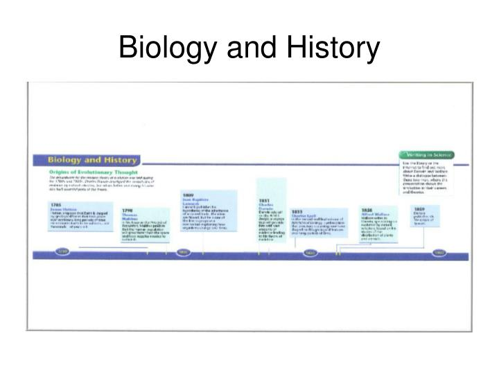 Biology and History