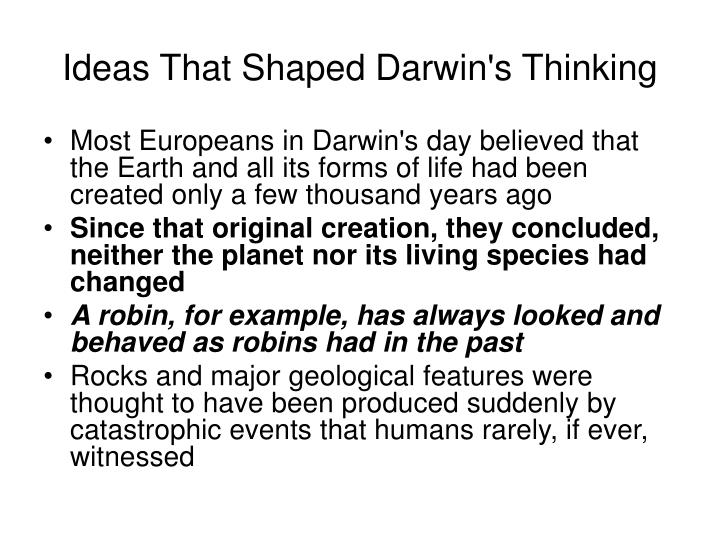 Ideas That Shaped Darwin's Thinking