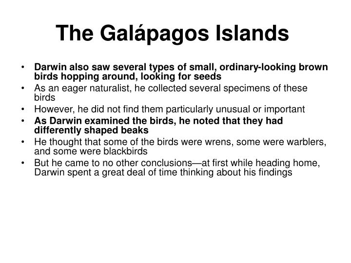 The Galápagos Islands