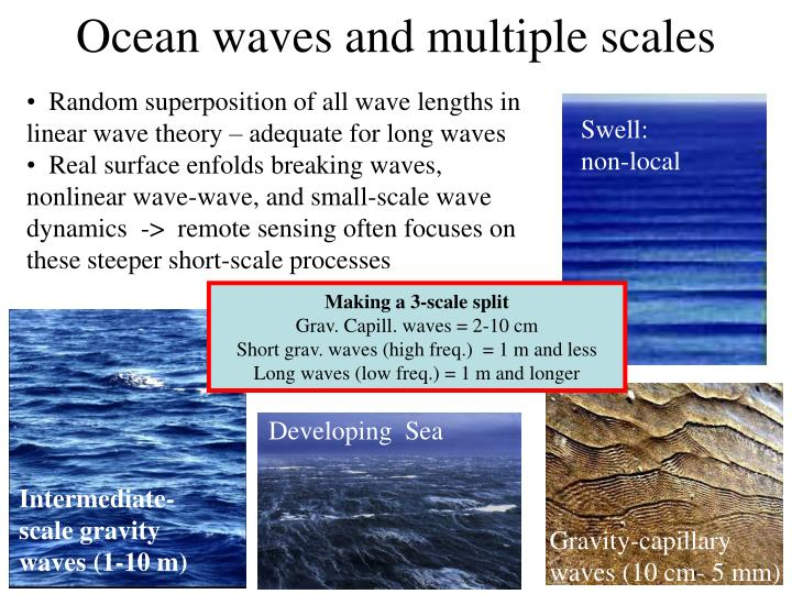 Ocean waves and multiple scales