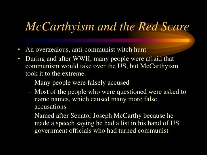 red scare and mccarthyism essay