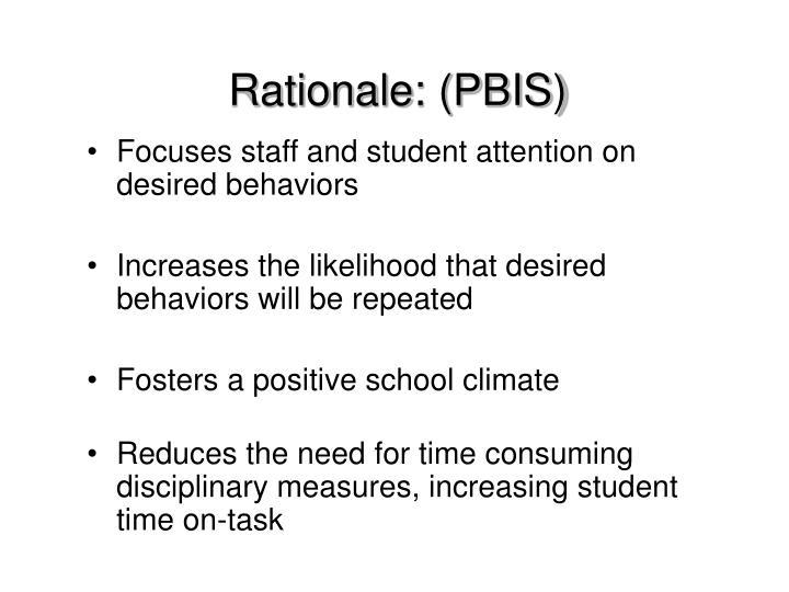 Rationale: (PBIS)