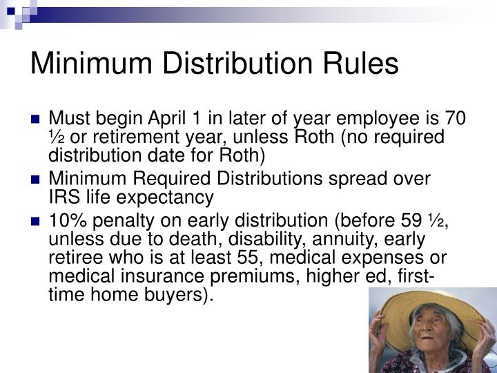 Minimum Distribution Rules