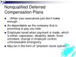 nonqualified deferred compensation plans