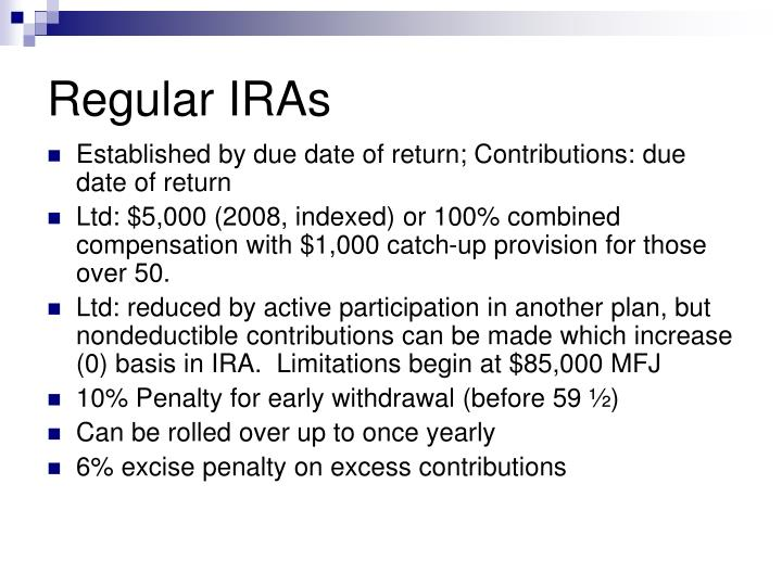 Regular IRAs