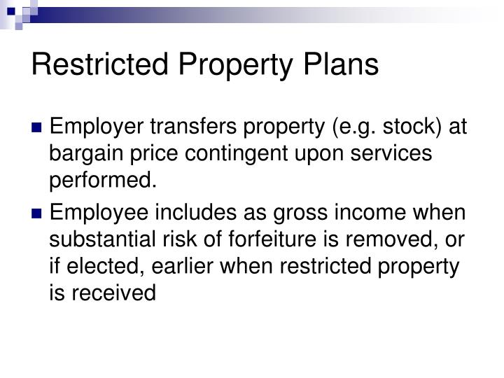 Restricted Property Plans