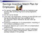 savings incentive match plan for employees