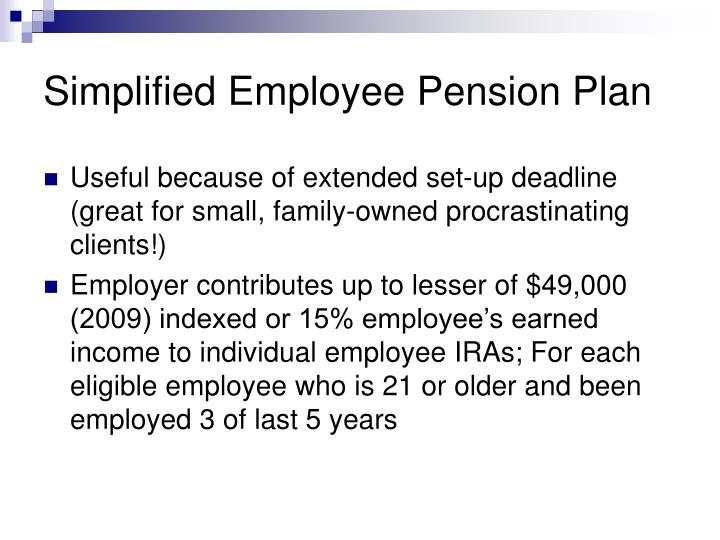 Simplified Employee Pension Plan