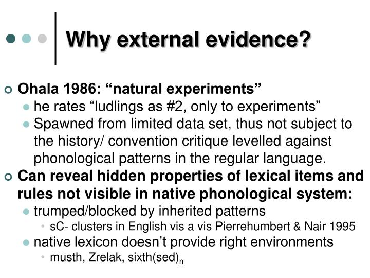Why external evidence