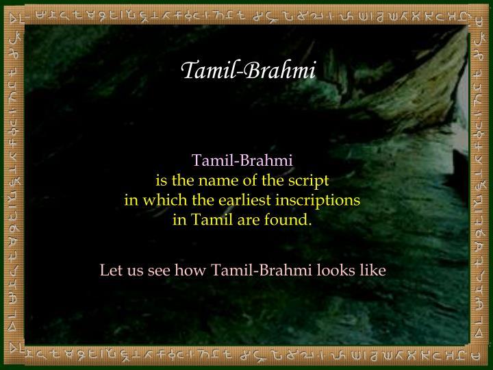 Tamil-Brahmi