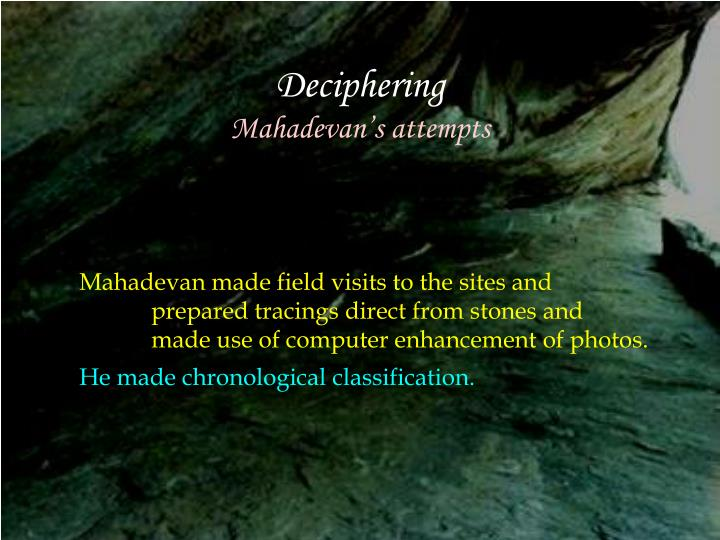 Deciphering