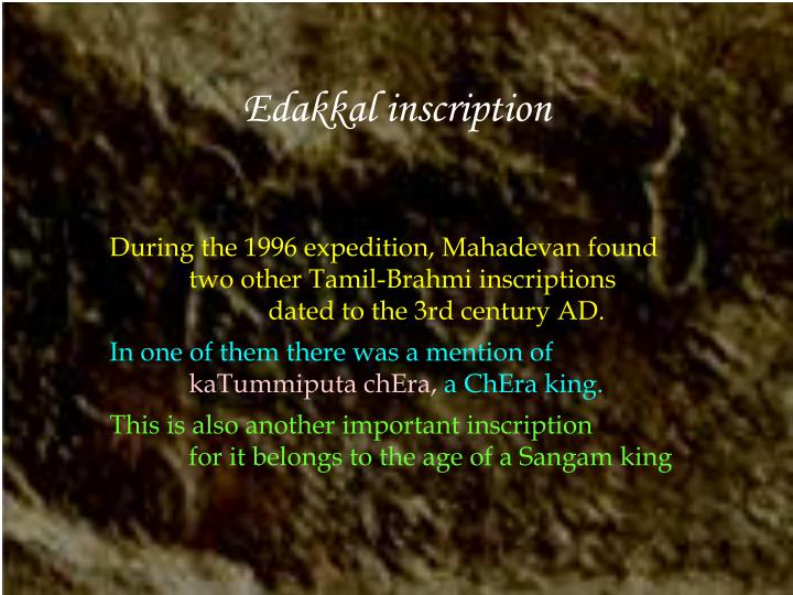 Edakkal inscription