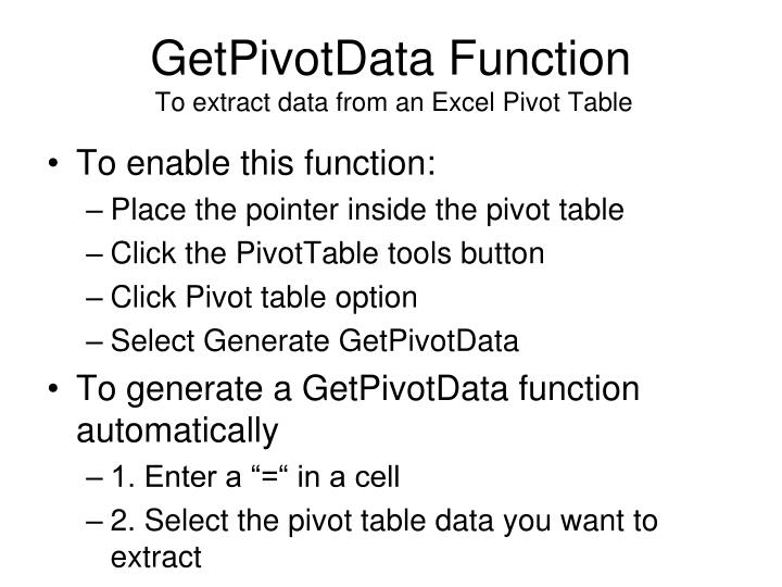 GetPivotData Function