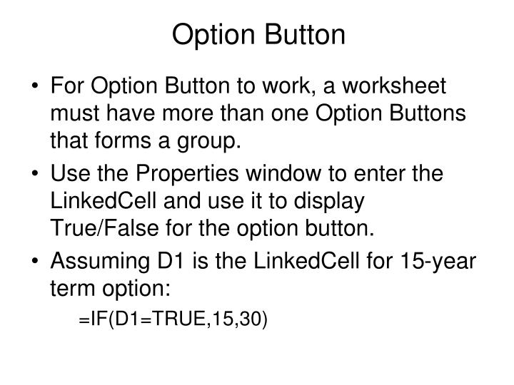 Option Button