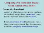 comparing two population means using independent samples1