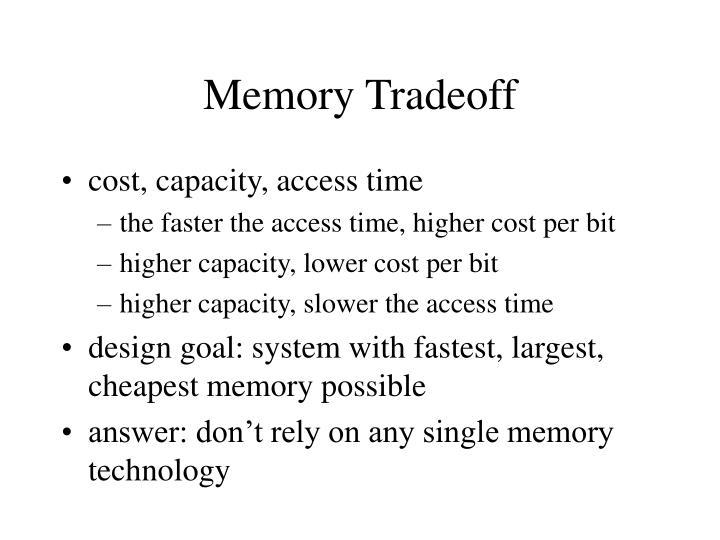 Memory Tradeoff