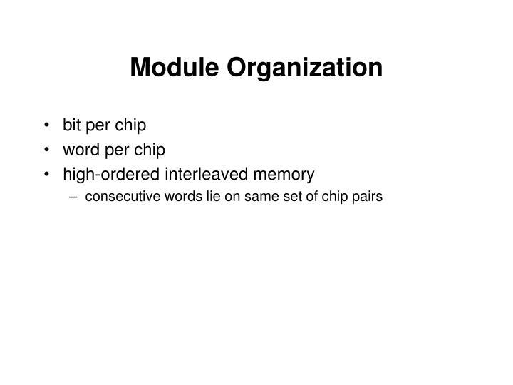 Module Organization