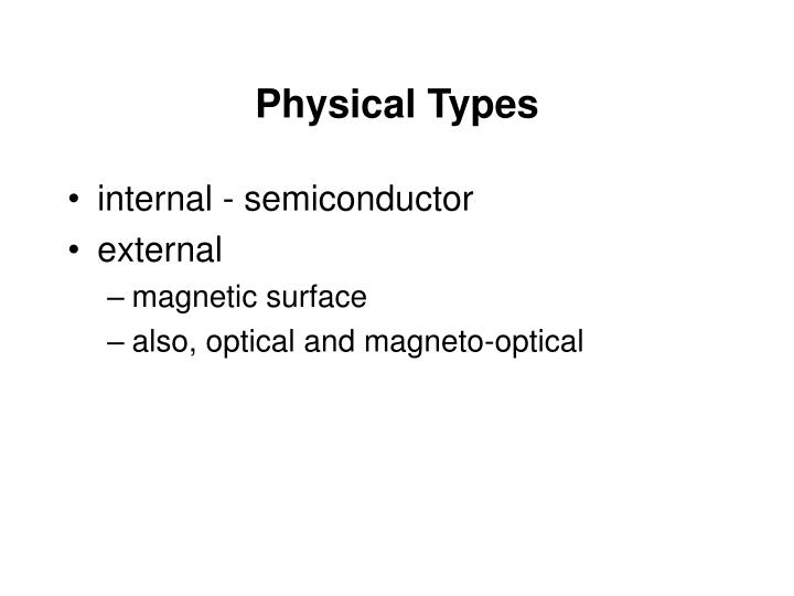 Physical Types