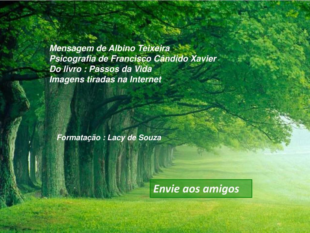 Mensagem de Albino Teixeira