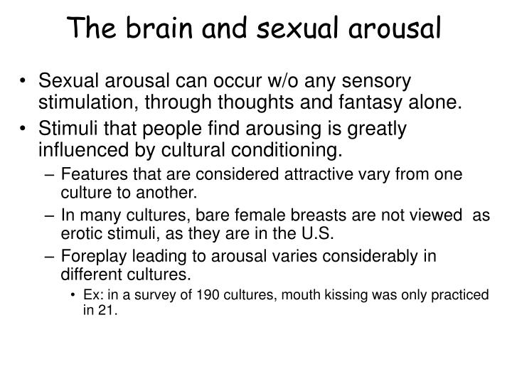 Sexual arousal by thought