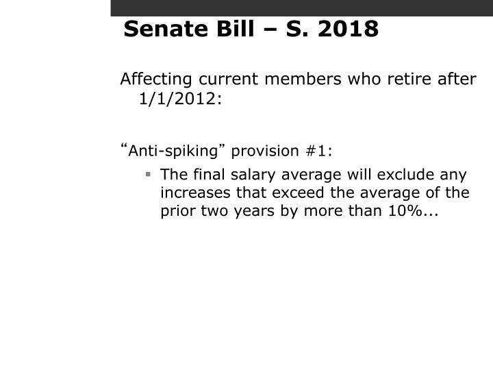 Senate Bill – S. 2018