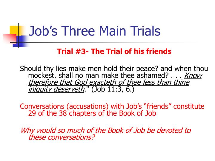Job's Three Main Trials