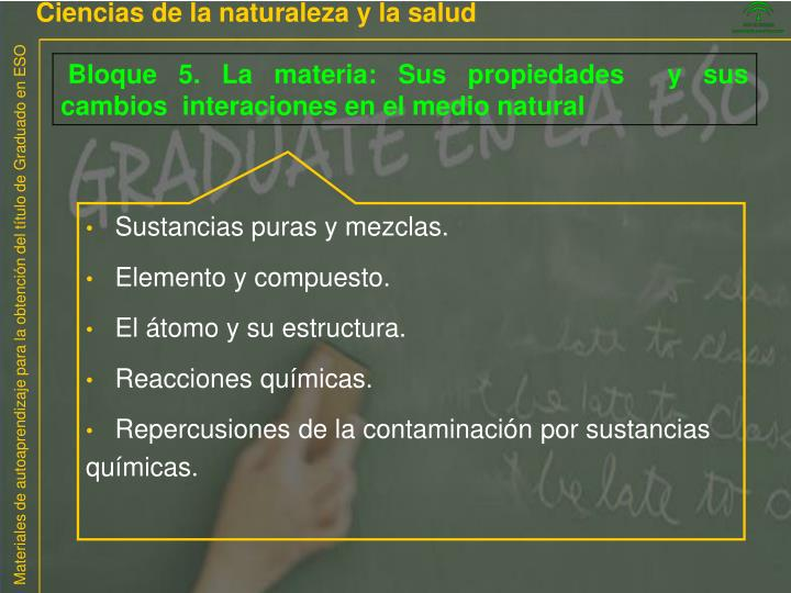 Ciencias de la naturaleza y la salud