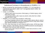definitional confusion in amendments to purpa 111