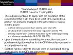 grandfathered purpa and purpa rules for existing qfs