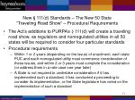 new 111 d standards the new 50 state traveling road show procedural requirements