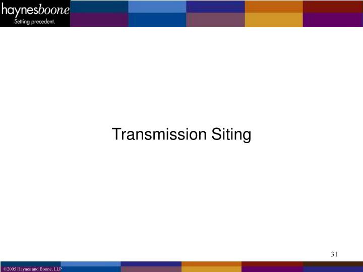 Transmission Siting